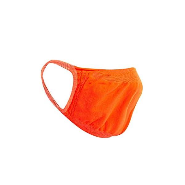 Relaxsan - Set 3 [Arancio Fluo] Fasce filtranti Viso Bocca Naso Lavabili riutilizzabili assorbenti Tessuto… 3 spesavip