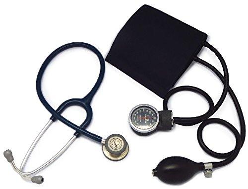 [セット、ネームタグ付]リットマン聴診器 クラシック3(ネイビーブルー5622)+アネロイド血圧計(ダークブルー) B01HFZGQP0 ネイビーブルー 5622 ネイビーブルー 5622