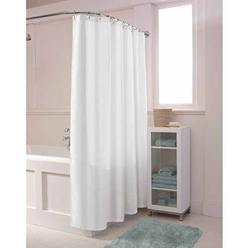MAYTEX Textured Waffle Fabric Shower Curtain,