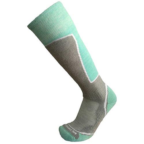 Ultimate Socks Womens Midweight Merino Wool Ski Snowboard Warm Socks Aqua Medium (Aqua Skis)