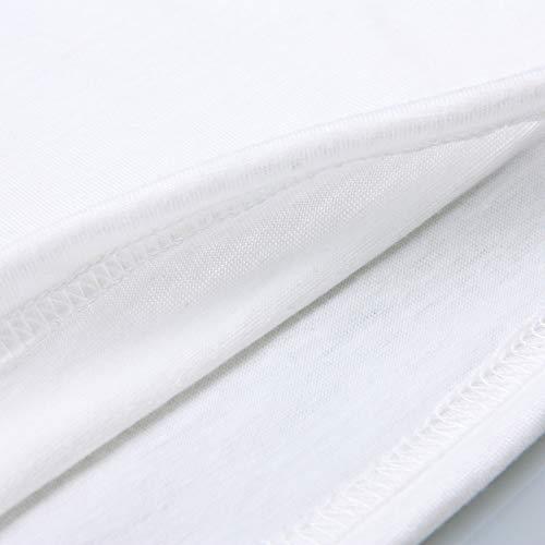 Bandes Col shirt En Vrtur Manches Femme Pour Imprimé Dessinées À Blanc Courtes T V Et 0ww1q5n7