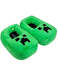 Minecraft Creeper Kids/Boys 3D Green Slipper