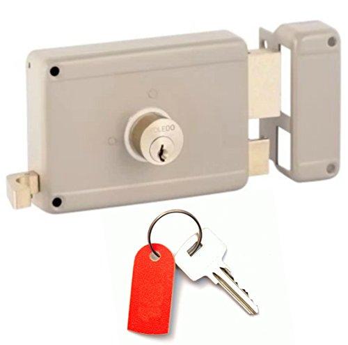 Rim Yale - Gate Locks : Deadbolt & Deadlatch Locking : Right Hand Inward Position : Yale Keyway : By TOLEDO
