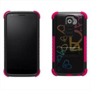 Cerhinu Beyond Cell Tri-shield Durable Hybrid Hard Shell & TPU Gel Case for Lg G2 2013 (At&t, Verizon) - Design Rainbow...