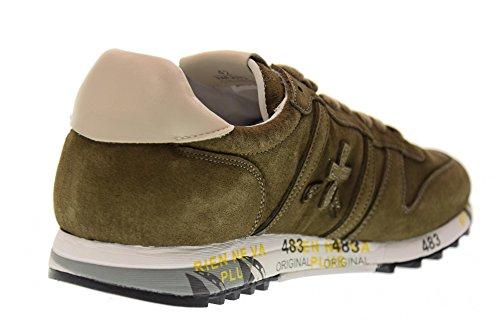 PREMIATA scarpe uomo sneakers basse ERIC 2373 VERDE MILITARE Verde militare