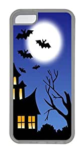 Halloween Bats Custom Apple iPhone 5C Case TPU Case Cover Compatible with iPhone 5C Transparent by patoner