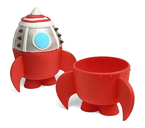 Rocket Ship Baking Cups (Set of 6 Silicone Baking Cups)
