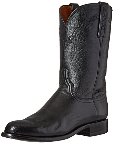 Image of Lucchese Bootmaker Men's Lawrence-blk Lonestar Calf Roper Riding Boot, Black, 11 D US