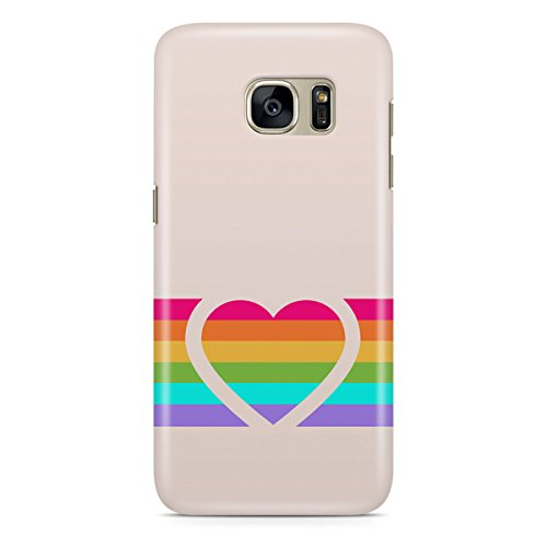 Phone Case For Apple iPhone 6 Plus - Rainbow Heart Designer Cover