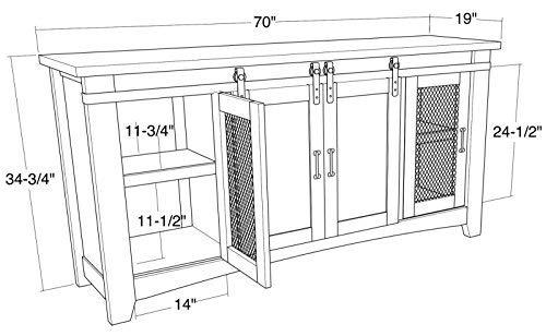 70 White Farmhouse Sliding Barn Door Double Sink Bathroom Vanity