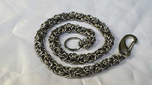 Stainless Steel Byzantine Weave Chainmail Wallet Chain - Hefty