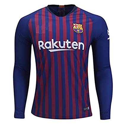 more photos 9ec3c e59ca aaDDa Barcelona Home Full Sleeve Jersey with Shorts 2018-2019