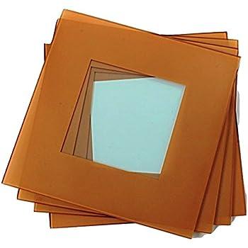 Amazon Com Gac Elegant Tempered Glass Square Placemats 12