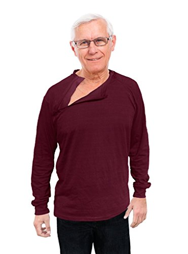 (Comfy Care Unisex Chest Port Zipper Shirts Chemo   Gift for Chemotherapy Cancer Patients)