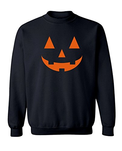 [Halloween Costume Carved out Pumpkin Graphic Design Crew Neck Sweatshirt - Large (Black)] (Cheap Offensive Halloween Costume Ideas)