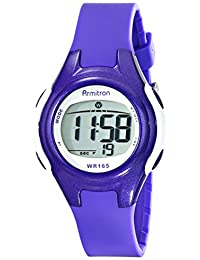 Armitron Sport Women's 45/7047PUR Purple and White Digital Watch