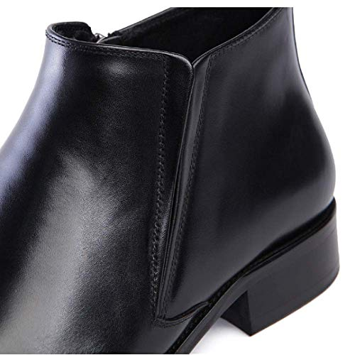 Cerniera in in Stile Scarpe da Uomo Alte Fashion con Black Pelle Europeo Scarpe Quadrilatero Comfort Ywqd0PY
