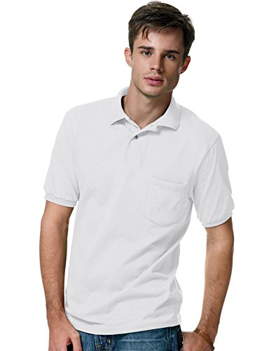 Style Adult Plastic Pants - Hanes Men's Cotton-Blend EcoSmart® Jersey Polo with Pocket