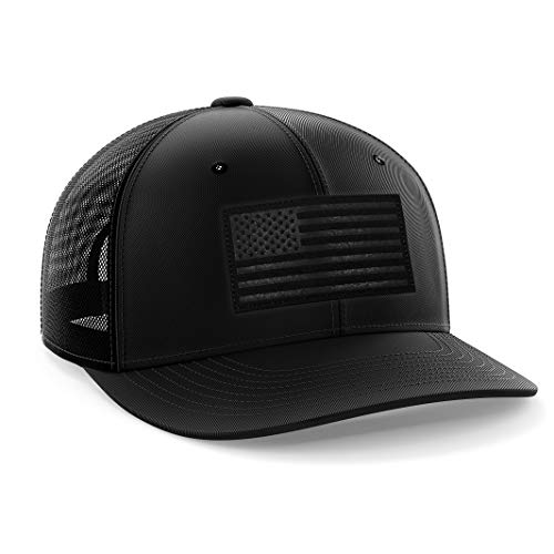 American Flag USA Midnight Snapback Hat