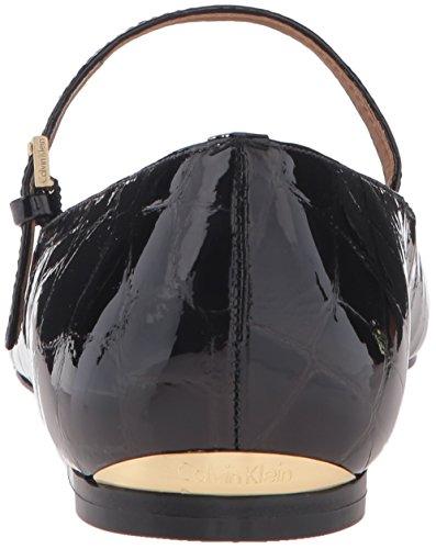 Black Gracy Mary Klein Women's Patent Jane Calvin Croco Flat 1pzYwqW4A