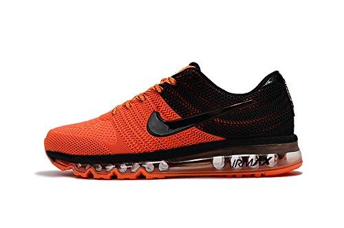 Running Shoes Max Air 2017 Leisure Sports Shoes Orange Black 8.5 D(M) US=42EU