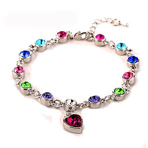 Heart Crystal Bracelet for Women Crystals Swarovski Elements Gifts for Her 7 +2.3