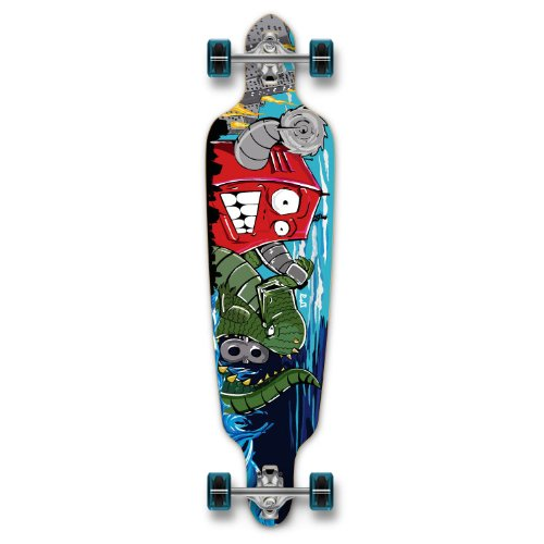 New Graphics Drop Through Complete Longboard Professional Speed Skateboard (Robot) (Robot Deck Skateboard)