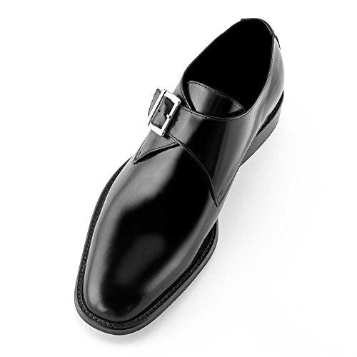 Masaltos Zapatos de Hombre con Alzas Que Aumentan Altura Hasta 7 cm. Fabricados EN Piel. Modelo Bari Negro