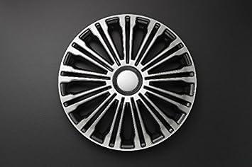 Autostyle PP 5257 Volante - Set de tapacubos, 17 pulgadas, color plata y negro: Amazon.es: Coche y moto