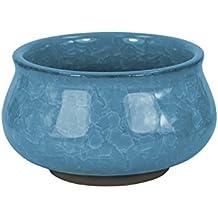 Dahlia Mini Crackle Glaze Ceramic Succulent Planter/ Plant Pot/ Flower Pot/ Bonsai Pot, Light Blue