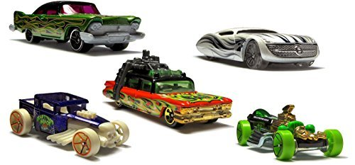 Ghostbusters Ecto-1 Hot Wheels Halloween Exclusive Set Bone Shaker, Rigor Motor, Gangster Grin, and '57 Plymouth Fury