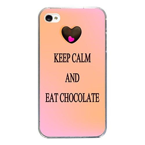 "Disagu Design Case Coque pour Apple iPhone 4 Housse etui coque pochette ""KEEP CALM AND EAT CHOCOLATE"""