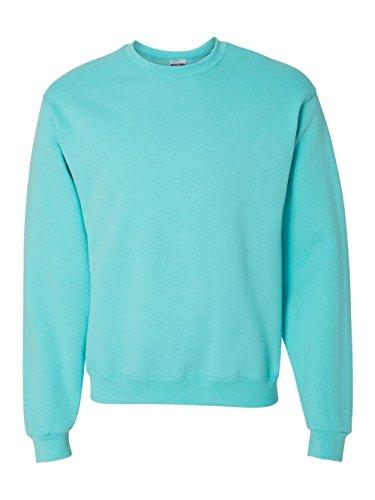 Jerzees 562 Adult Nublend Crew Neck Sweatshirt - Scuba Blue, (Adult Jerzees Sweatshirt)