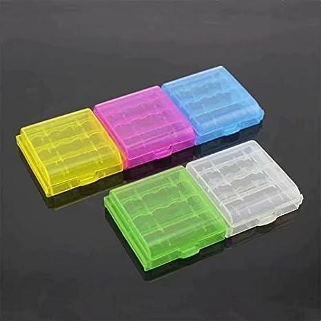Waymeduo-4X Caja Plástico Estuches pa AA/AAA Batería Pila Nueva