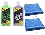 California Custom Products Purple Metal Polish/Deoxidizer Bundle with Microfiber Detailing Towels