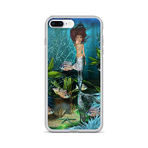 iPhone 7 Plus/8 Plus Case Anti-Scratch Phantasy Imagination Transparent Cases Cover Mermaids Haven Fantasy Dream Crystal Clear (All Star Wings Best Flavours)