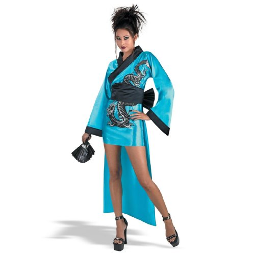 [Dragon Geisha Costume Adult] (Sexy Geisha Costumes)