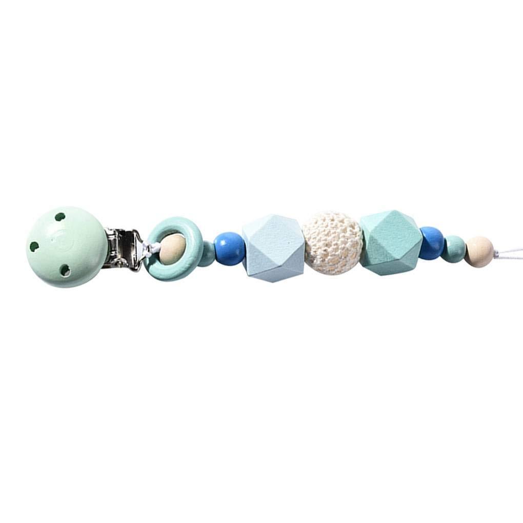 Clips chupete de silicona para la dentici/ón Cuentas Soporte para beb/és de los muchachos regalo Teether Juguetes Baba babero Mengonee