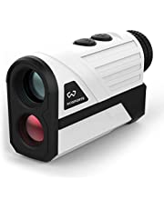 WOSPORTS Golf Rangefinder 650 Yards Range Finder with Slope Compensation, Flag-Lock, Continuous Scan, 6x magnification, Vibration, Distance/Speed/Angle Measurement for Golf, Archery, Hunting
