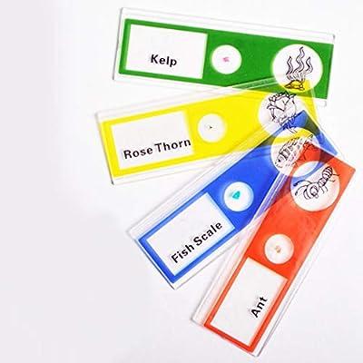 Kapmore 12PCS Microscope Slide Plastic Prepared Microscope Slide for Kids: Everything Else