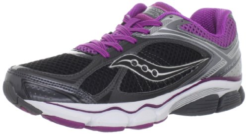 Saucony Womens Progrid Echelon 3 Running Shoe Black/Grey/Purple
