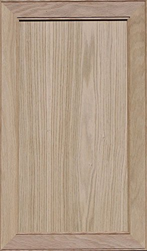 Unfinished Oak Mitered Flat Panel Cabinet Door by Kendor, 29H x 17W