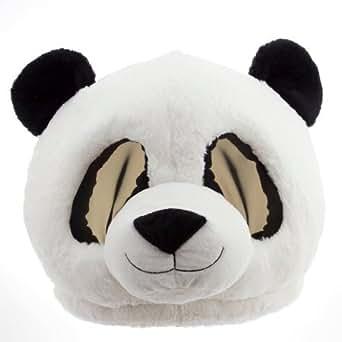 #Maskimals Panda Bear Maskimal Plush Head Plush Halloween Blue Shark, Sloth Plush Furry Head Maskimal Oversized Plush Halloween Mask White Unicorn Rainbow Tiger Head (Panda)