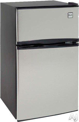 Avanti RA3136SST Counter-Height 3.1 Cu. Ft Two-Door Refrigerator/Freezer, Black/Stainless Steel