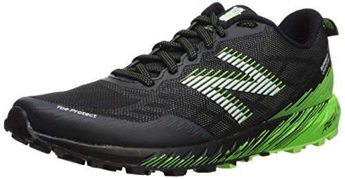 New Balance Mens Summit Unknown Trail Running Shoe  Black Lime  10 5 2E Us