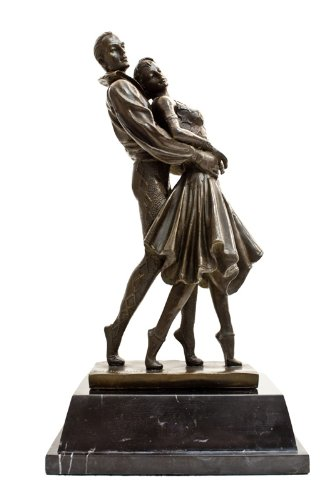 Bronze Art Deco Dancers Romantic Sculpture Chiparus Inspired Statue
