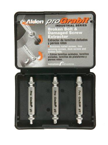 Alden 8430P Pro Grabit Broken Bolt and Damaged Screw Extractor 3 Piece ()