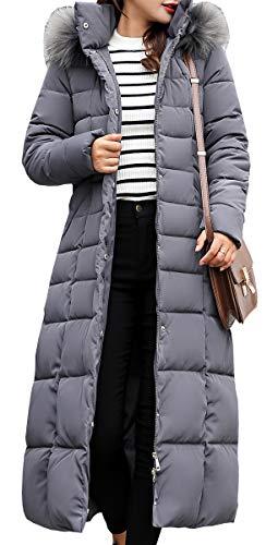 Veste À Longues Manches Parka Blackmyth Manteau Padded Capuche Hiver Femme Gris Outwear Chaud Doudoune Mode XRttPq