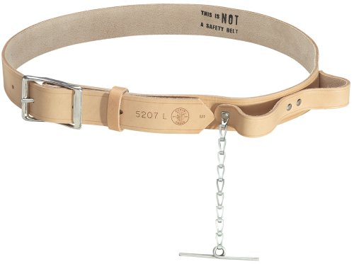 - Klein Tools 5207XL Electricians Leather Tool Belt, X-Large