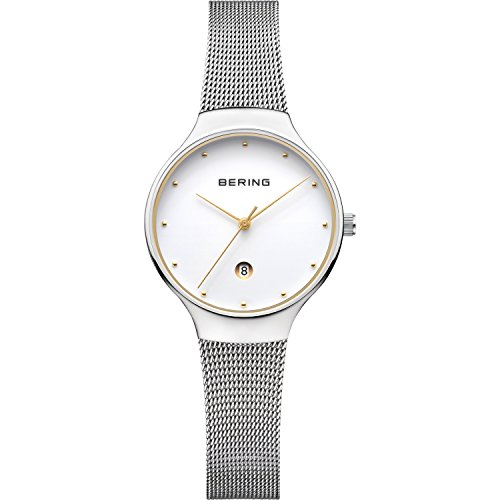 BERING Time 13326-001 Womens Classic Collection Watch with Mesh Band and scratch resistant sapphire crystal. Designed in Denmark.